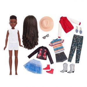Набор Creatable World №3 с куклой Темные заплетенные волосы Меняем образы