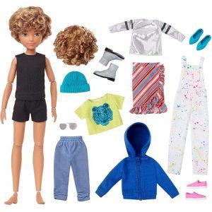 Набор Creatable World №4 с куклой Светлые кудрявые волосы Меняем образы