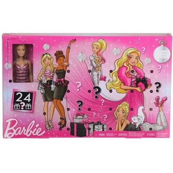 Адвент календарь Барби с куклой и аксессуарами Barbie GFF61