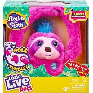 Интерактивная игрушка Ленивец Ролло Little Live Pets 26274