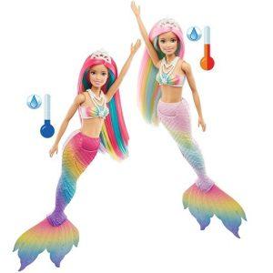 Кукла Барби Русалка меняющая цвет Barbie Dreamtopia GTF89