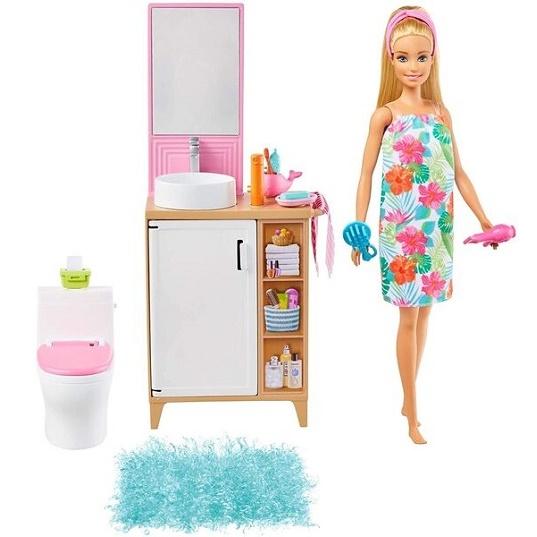 Кукла Барби и Ванная комната Barbie Bathroom GRG87