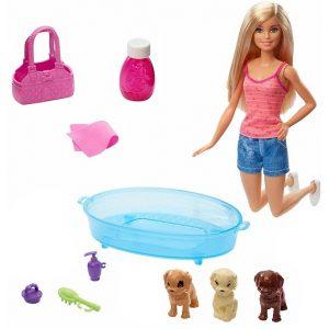 Игровой набор Барби Купание щенков Barbie GDJ37
