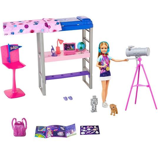 Игровой набор Барби Спальня Космос с куклой Стейси Barbie GTW33