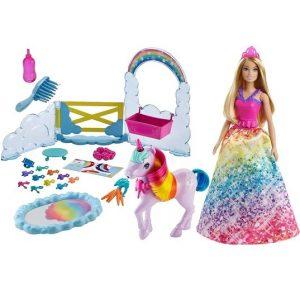 Кукла Барби Ухаживаем за единорогом Barbie Dreamtopia