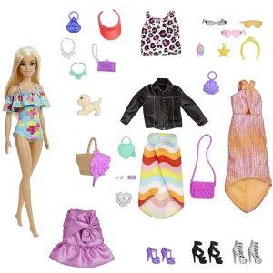 Адвент календарь Барби на Новый 2022 год Barbie Day to Night GXD64