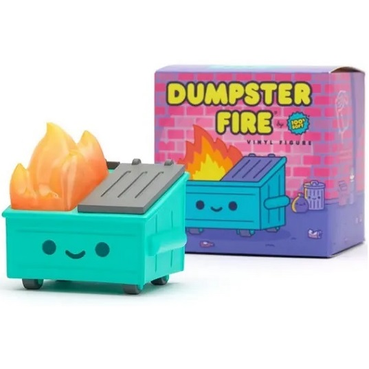 Фигурка Мусорный контейнер в огне Dumpster Fire