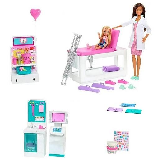 Клиника Барби с рентгеновским аппаратом и куклой Barbie GTN61