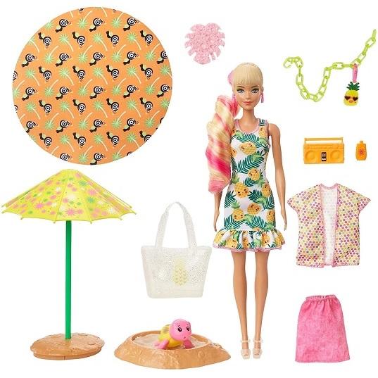 Набор Барби Ароматный пенный сюрприз Ананас с куклой Barbie