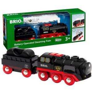 Поезд с настоящим паром на батарейках Brio 33884