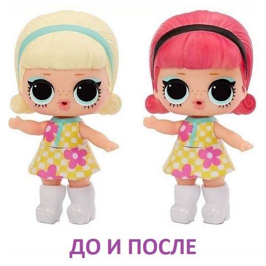 Кукла ЛОЛ меняет цвет волос LOL Surprise Color Change