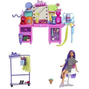 Набор Барби Экстра с туалетным столиком и куклой Vanity Barbie Extra