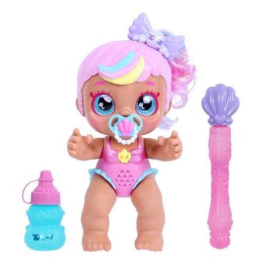 Кукла малышка Kindi Kids пускает пузыри Baby Bubbles Moose Toys