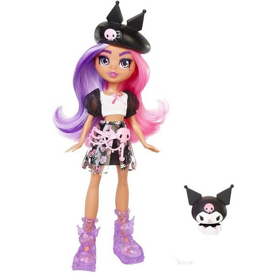 Кукла Санрио Куроми с питомцем Kuromi Hello Kitty and Friends