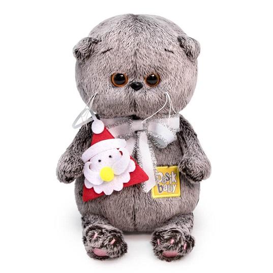 Мягкая игрушка Басик Baby с игрушкой Дед Мороз Budi Basa