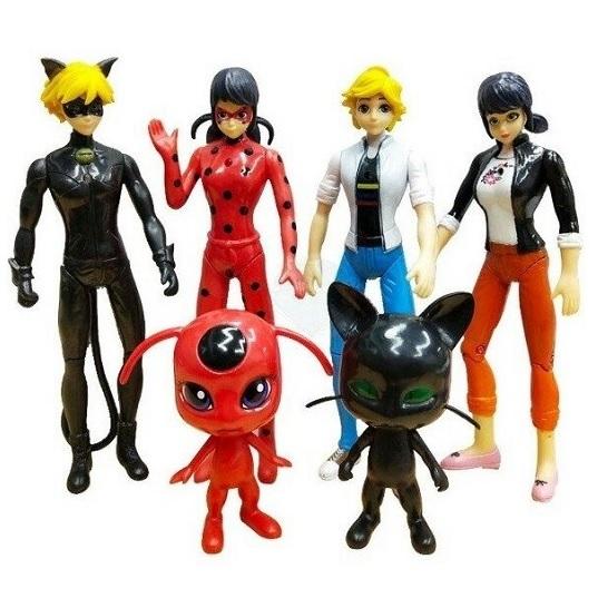 Набор фигурок героев Леди Баг и Супер Кот (6 штук) Miraculous