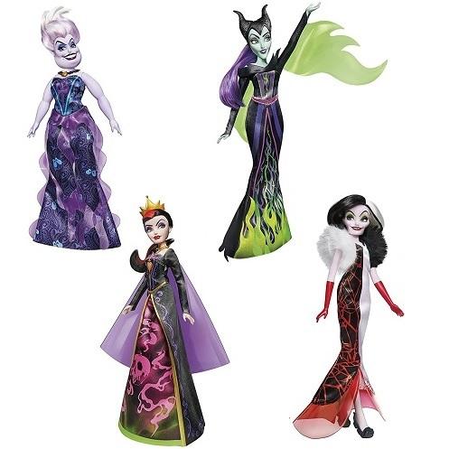 Набор кукол-злодеев: Злая Королева, Круэлла Де Виль, Малефисента, Урсула Hasbro