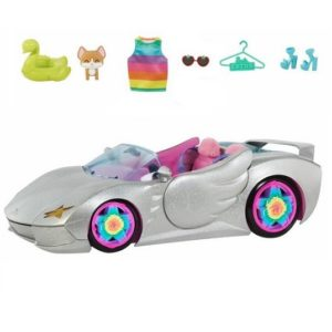 Серебристая машина для двух кукол Barbie Extra Vehicle HDJ47