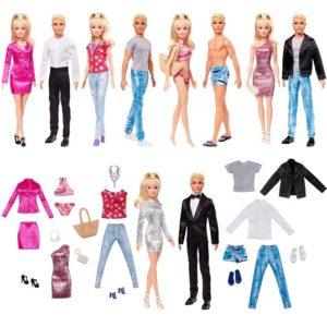 Набор кукол Барби и Кен с модной одеждой Barbie GHT40