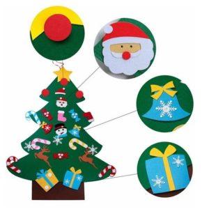 Новогодняя елка из фетра с игрушками DENCO